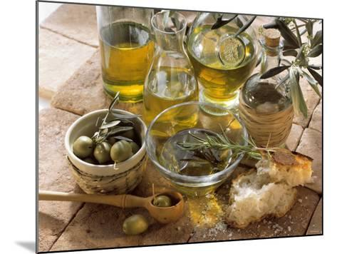 Olive Oil and Olives--Mounted Photographic Print