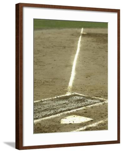 Homeplate with View of Third Base--Framed Art Print