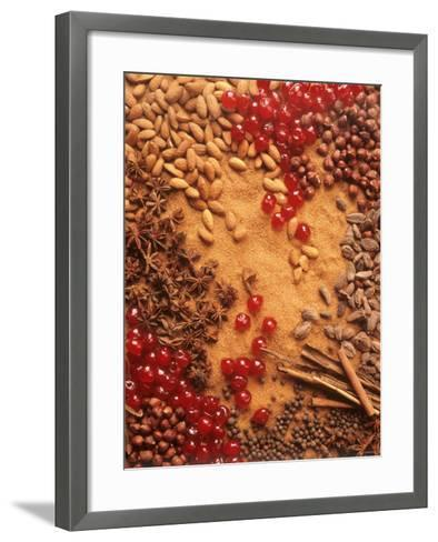 Spices, Nuts, Almonds and Cherries Forming a Surface-Luzia Ellert-Framed Art Print