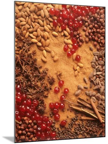 Spices, Nuts, Almonds and Cherries Forming a Surface-Luzia Ellert-Mounted Photographic Print
