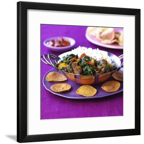 Lamb Curry with Spinach and Rice-Frank Wieder-Framed Art Print