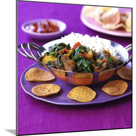 Lamb Curry with Spinach and Rice-Frank Wieder-Mounted Photographic Print
