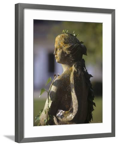A Stone Statue in a Castle Garden-Hans-peter Siffert-Framed Art Print