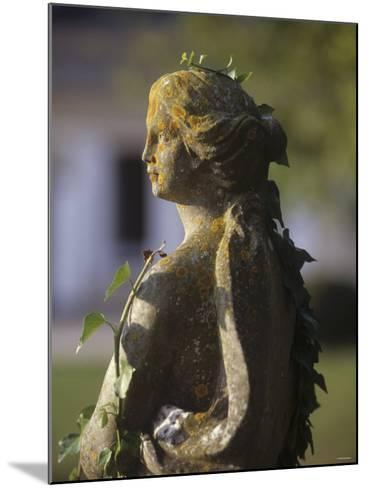 A Stone Statue in a Castle Garden-Hans-peter Siffert-Mounted Photographic Print