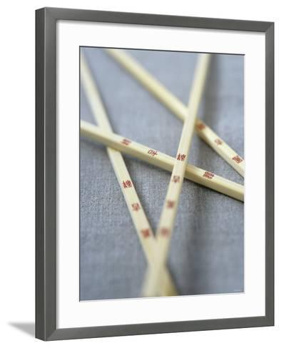 Chopsticks with Chinese Characters-Jean Cazals-Framed Art Print