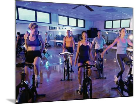Spinning Class--Mounted Photographic Print
