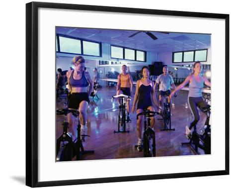 Spinning Class--Framed Art Print