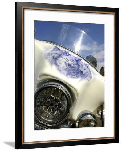 Harley Davidson Motorcycle--Framed Art Print
