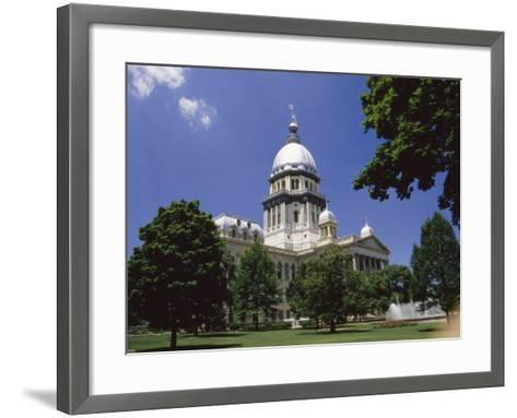 State Capitol, Springfield, Illinois, USA--Framed Art Print