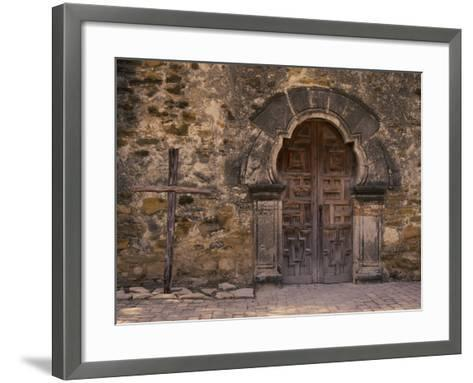 Mission Espada, San Antonio, Texas, USA--Framed Art Print