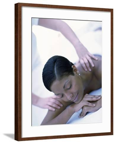 Young Woman Getting a Shoulder Massage--Framed Art Print