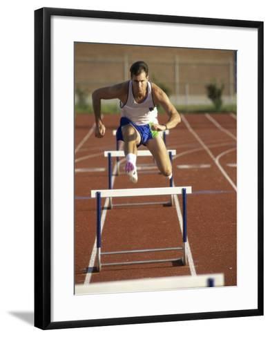 Leaping Over Hurdles--Framed Art Print