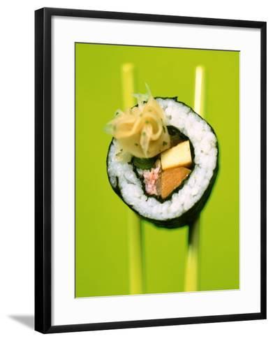 Maki-Sushi with Crabmeat, Scrambled Egg and Tuna-Hartmut Kiefer-Framed Art Print
