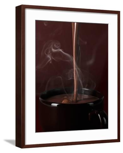 Pouring Hot Chocolate into a Cup-Armin Zogbaum-Framed Art Print