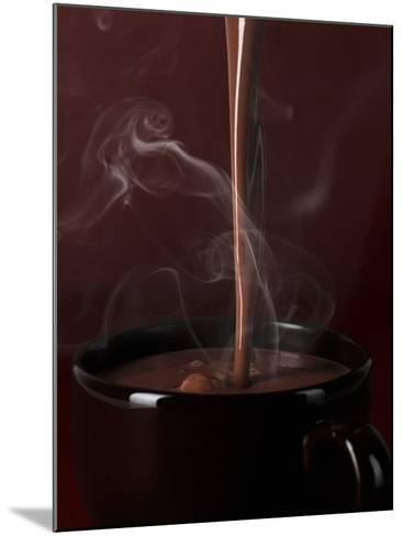 Pouring Hot Chocolate into a Cup-Armin Zogbaum-Mounted Photographic Print