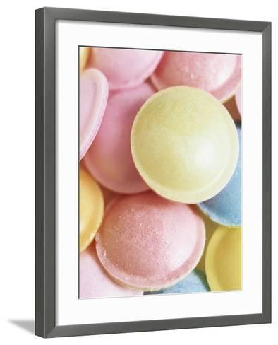 Pastel-Coloured Flying Saucers-Sam Stowell-Framed Art Print