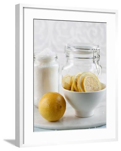 Ingredients for Salt-Pickled Lemons-Danya Weiner-Framed Art Print