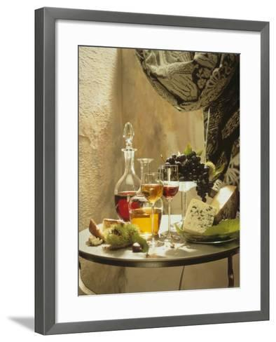 Dessert Wines for a Selection of Cheeses--Framed Art Print