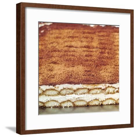 Tiramisu (Layered Dessert with Mascarpone Cream, Italy)--Framed Art Print
