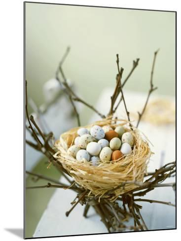 Sweet Easter Eggs in a Nest-Philip Webb-Mounted Photographic Print