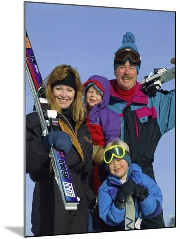 Family of Skiers--Mounted Photographic Print