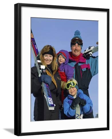 Family of Skiers--Framed Art Print