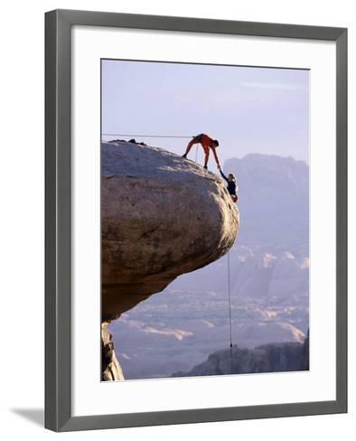 Cooperating Climbers--Framed Art Print