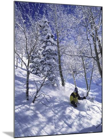 Side Profile of a Man Skiing--Mounted Photographic Print