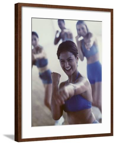 Group of Young Women Exercising in a Gym--Framed Art Print