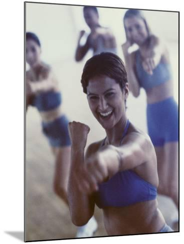 Group of Young Women Exercising in a Gym--Mounted Photographic Print