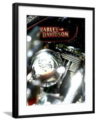 Close-up of a Motorcycle--Framed Art Print