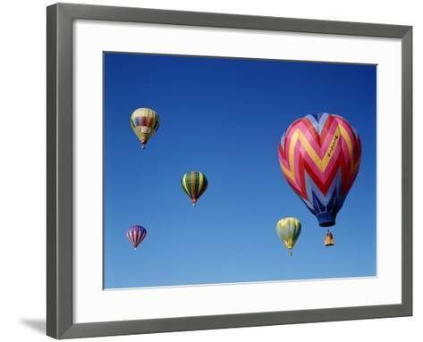 Colorful Hot Air Balloons in Sky, Albuquerque, New Mexico, USA--Framed Art Print