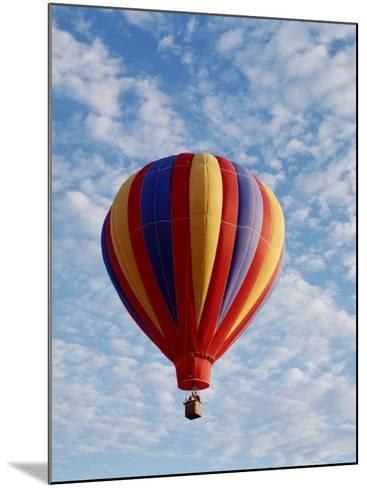 Colorful Hot Air Balloon in Sky, Albuquerque, New Mexico, USA--Mounted Photographic Print