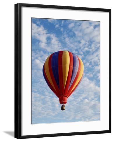 Colorful Hot Air Balloon in Sky, Albuquerque, New Mexico, USA--Framed Art Print