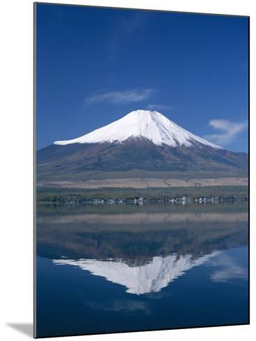 Mount Fuji and Lake Yamanaka, Honshu, Japan--Mounted Photographic Print