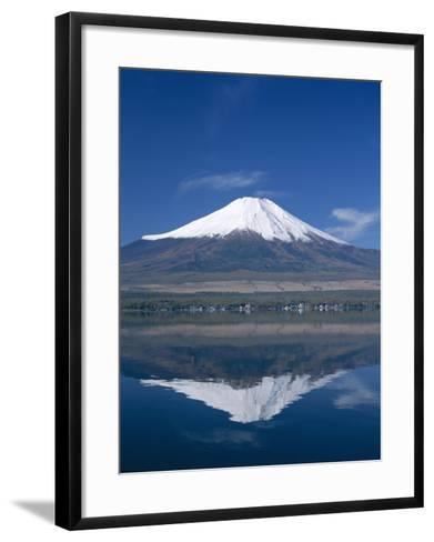 Mount Fuji and Lake Yamanaka, Honshu, Japan--Framed Art Print