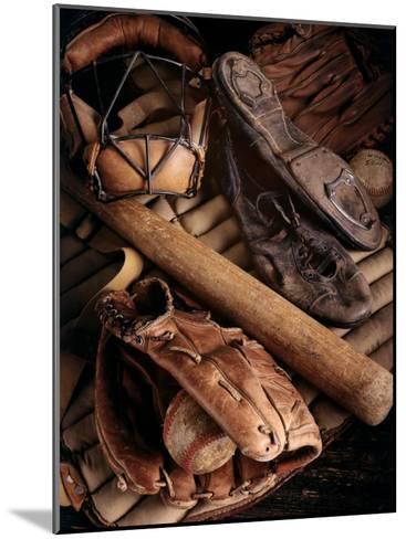 Baseball Still Life--Mounted Photographic Print