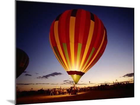 Dusk, Colorful Hot Air Balloon, Albuquerque, New Mexico, USA--Mounted Photographic Print