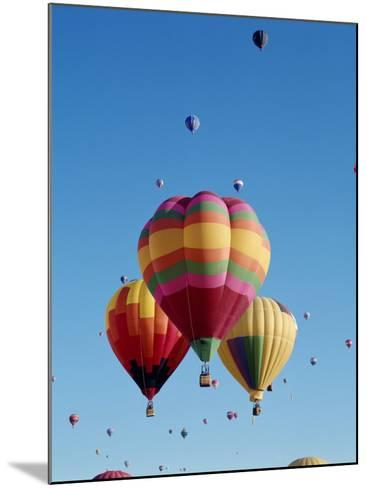 Colorful Hot Air Balloons in Sky, Albuquerque, New Mexico, USA--Mounted Photographic Print
