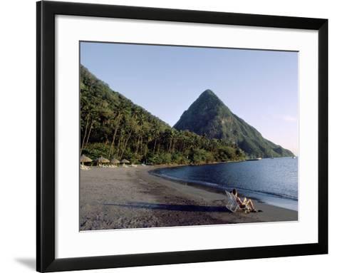 Jalousie Bay, Petit Piton, St. Lucia--Framed Art Print