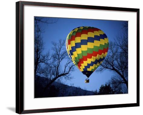Bright, Colorful Hot Air Ballooon--Framed Art Print