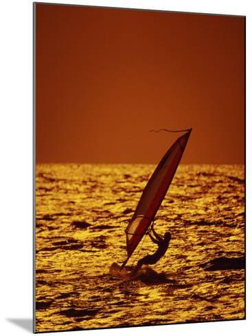 Windsurfer Silhouette--Mounted Photographic Print