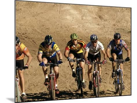 Group of People Riding Bicycles in a Race--Mounted Photographic Print