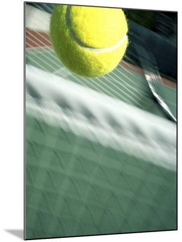 Tennis Racquet, Ball and Net--Mounted Photographic Print