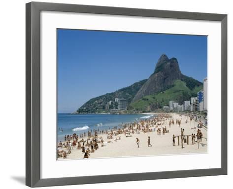 Ipanema Beach, Rio de Janeiro, Brazil--Framed Art Print