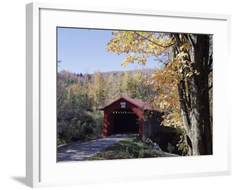 Covered Bridge in Fall--Framed Art Print