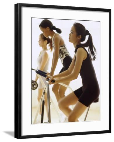 Women Working Out--Framed Art Print