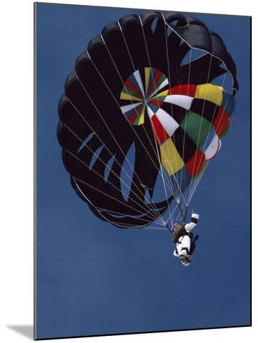 Skydiver with Parachute--Mounted Photographic Print