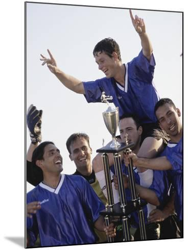 Soccer Team with Trophy--Mounted Photographic Print