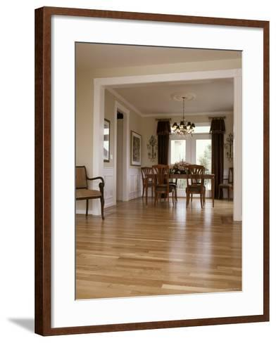 View into a Dining Room From the Foyer--Framed Art Print